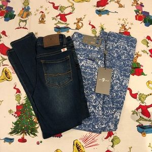 Lucky and 7 for man kind Jeans